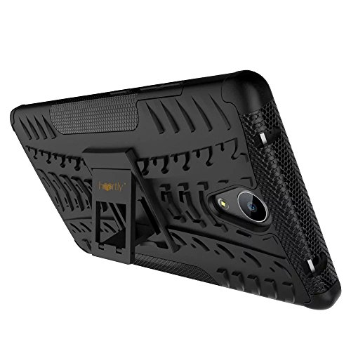 new arrival 616f3 92939 Heartly Lenovo Phab 2 Back Cover Kick Stand Rugged Shockproof Tough Hybrid  Armor Dual Layer Bumper Case - Matte Black