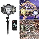 Weihnachten Laser Schneeflocke Projektor Lampe Outdoor LED Wasserdichte Rasen Bühne Projektion Licht Home Weihnachten Garten Schnee Nachtlichter