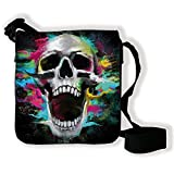 Sacoche (petit sac bandoulière) Tête de mort color pop destroy - Chamalow shop