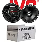 Ford Fiesta MK7 Front Heck - JVC CS-DR1720 - 16cm 2-Wege Koax-Lautsprecher - Einbauset
