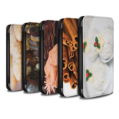 Stuff4 Coque/Etui/Housse Cuir PU Case/Cover pour Apple iPhone 6 / Desserts Chocolat Design / Nourriture de Noël Collection Pack 6pcs
