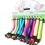12pezzi colorato per gatti con Bell, regolabile arcobaleno collari per gatto Kitty cucciolo di coniglio animali di piccola taglia