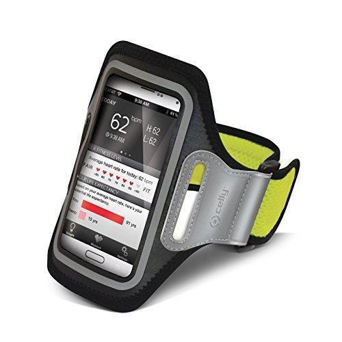 Celly AIRBAND01 Armband für Smartphone (Größe: XXL) gelb