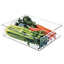 InterDesign 70630EU Fridge+ Contenitore per Congelare, Plastica, Trasparente, 36,83 x 30,48 x 10,16 cm