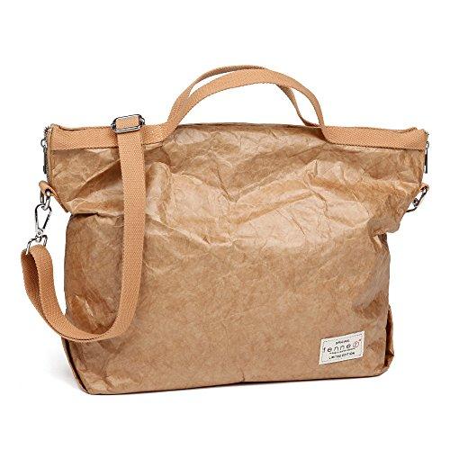 65f4ddb83a01b Fenner-Fashion Paper Bag Umhängetasche Damenhandtasche Handtasche klein Rom  Dunkelbraun Hellbraun