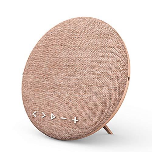 QAR Drahtloser Bluetooth-Lautsprecher-Subwoofer-Gewebe-Lautsprecher-Station-tragbarer im Freiensport-Ausgangsvertikaler Desktop Audio (Color : Pink)