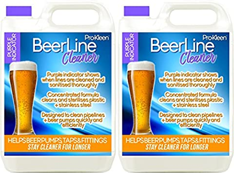 2 x 5 Litres Pro-Kleen Heavy Duty Purple Beer Line