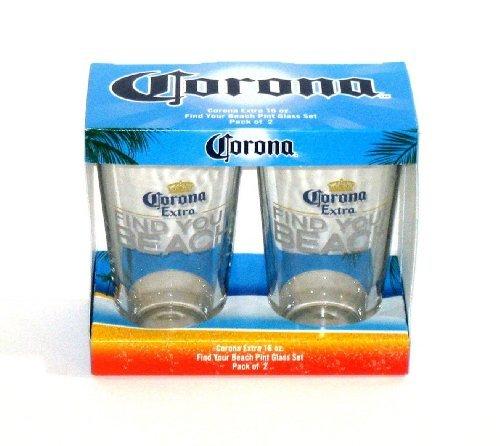 Corona Extra FIND YOUR BEACH Pint-Glas Set von Corona