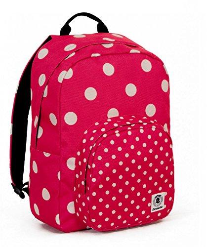 ZAINO INVICTA - OLLIE PACK FANTASY NEW - Rosa - Bianco Pois - tasca porta pc padded - americano 25 LT