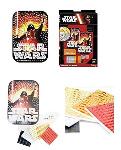 Star Wars set créatif avec les autocollants stickers mosaïque idée cadeau Disney