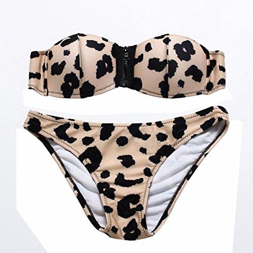 WANGXN Frau Bikini Leopard snakeskin Musterdruckpunkt BH Verschluss Tasse geteilt Bademoden sexy Badebekleidung , skin leopard , (Anzug Skin Camo)