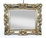 Großer Wandspiegel Antik Silber mit Facettenschliff, Barock Spiegel 50x60cm Garderobenspiegel...