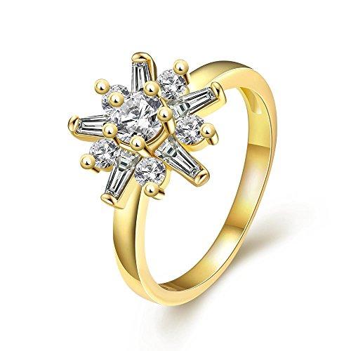 YAYA Alta Qualità Di 5 Anni, In Totale Libertà Antiallergico Moda Gioielli Con Uno Zircone (18k Oro Bianco Della Collana Di Diamante Solitario)