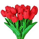 Estos tulipanes PU color, forma, muy realista. Uso de materiales ecológicos. La diversidad, puede mezclar y combinar colores. Conveniente para la decoración casera. Una variedad de hoteles, parques, auditorio, entretenimiento, jardín ecológic...