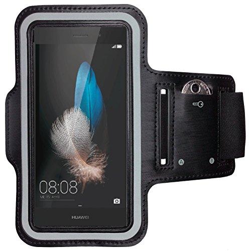 CoverKingz Armtasche für Huawei P8 Lite Sportarmband mit Schlüsselfach, Laufarmband, Sport Handyhülle, Handy Armband Schwarz