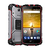 Dreifach Proofing Fingerabdruck ID 4G Smartphone Ulefone Armor 2S IP68 5,0 Zoll FHD Quad Kern Android 7.0 13MP + 8MP Kamera 4700 mAh Batterie Typ-C 9V2A Schnellladung Dual SIM NFC GPS Für 23 Bands Mobiltelefon (Rot)