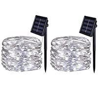 BOLWEO Solar Powered String Lights,Waterproof Fairy Lights for Outdoor Decoration 1