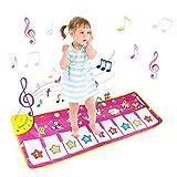 Tappeto Musicale Bambini, BelleStyle Bambino Piano Playmat Strumento Musicale Tocca la tastiera Giocattoli Educativi (Viola)