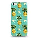 Coque iphone 5 5S SE Ananas geometrique tropical fruit