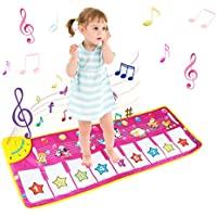 BelleStyle Children's Musical Toys, Baby Musical Game Carpet Mat Musical Instrument Toy Touch Play Keyboard Gym Play Mat for Kids