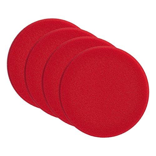 4x SONAX 04931000 PolierSchwamm rot 160 (hart) SchleifPad 1 Stück
