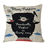 B Lyster shop Mary Poppins Practically Perfect in Every Day #1414W Cotton & Polyester Soft Zippered Cushion Throw case/K