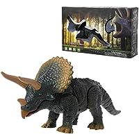 Kofun mando a distancia Animal Juguete Dinosaurios inal¨¢mbrico mascota, pl¨¢stico, Triceratops, 22.5x7.5cm (8.86x2.95inch)