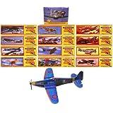 96 kits de avión de papel - para bolsas de fiesta para niños - aviones 2.ª Guerra Mundial - oferta especial