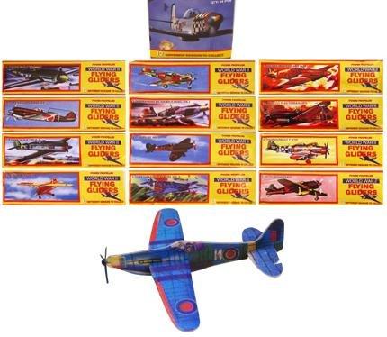 96 Fliegende Segelflugzeug Flieger Sätze - kinder partytüte füller - ww2 flugzeuge (Ww2-flugzeug Spielzeug)