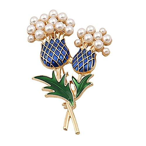 Hohe Kostüm Schmuck Qualität - Nikgic Lady Schöne glänzende Perle Rose hohe Qualität Brosche täglichen Schmuck Geschenke für Damen