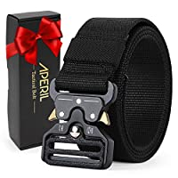 "APERIL Men Tactical Belt, 1.7"" Military Style Adjustable Nylon Molle Belt with Quick-Release Metal Buckle - Ideal for Working Outdoor Airsoft"