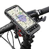 iPhone X/iPhone XS Support pour Vélo Étanche, Bicyclette Etui Rack Vélo du Guidon...