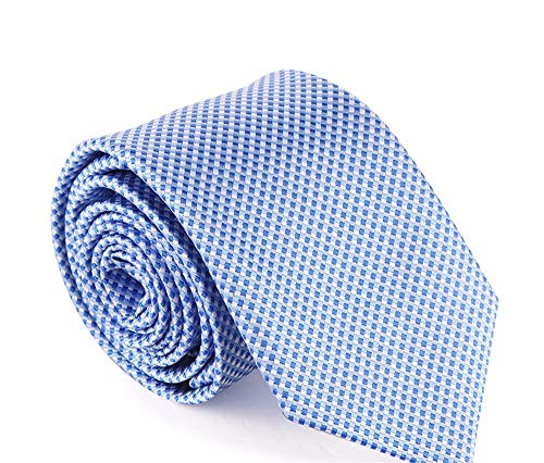 WUNDEPYTIE Dress Men's Tie 7Cm Wedding Groom Waterproof Korean Version of The Narrow Tie Men's Gift Box, Sky Blue Sky Blue Mens Tie