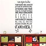 stickers muraux stickers muraux chambre Sticker Citation Les Regles Du Jeu S'Amuser Salle De Jeux Décor À La Maison Chambre D'enfant