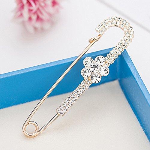 zoyolo Heiße Koreanische Zubehör Hundert-pin Strickjacke Pullover Brosche High-end Seide Schal Schnalle Pflaume Big Diamond - Pflaume-pullover-strickjacke