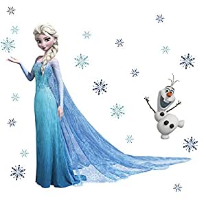 wandsticker motiv k nigin elsa und olaf aus die eisk nigin wanddeko k che. Black Bedroom Furniture Sets. Home Design Ideas