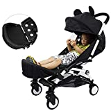 Passeggino esteso booster sedile poggiapiedi Infant ombrello universale passeggino prolunga pediera passeggino accessori, nero