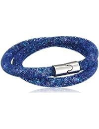 Swarovski mujeres azul cristal FashionNecklaceBraceletAnklet