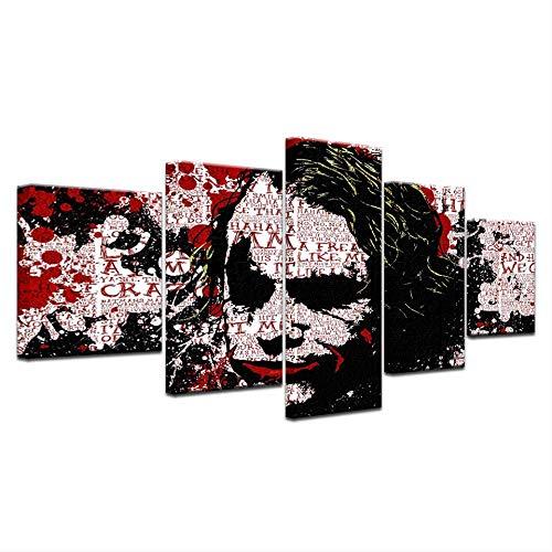 HY.Bohu Wanddekorkunst 5 Panel HD Gedruckt Eine Frauen Individualität porträt Graffiti Druck Auf Leinwand Kunst Malerei Für zuhause Wohnzimmer Dekoration -