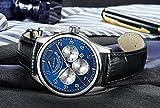 PARNIS Complication 2111 Automatik Herrenuhr Edelstahl-Armbanduhr Lederarmband MIYOTA Schnellschwinger Kaliber 9100 mit Vollkalender und Gangreserve-Anzeige - 7