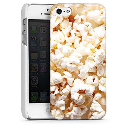 Apple iPhone 4 Housse Étui Silicone Coque Protection Popcorn Cinéma Popcorn CasDur blanc