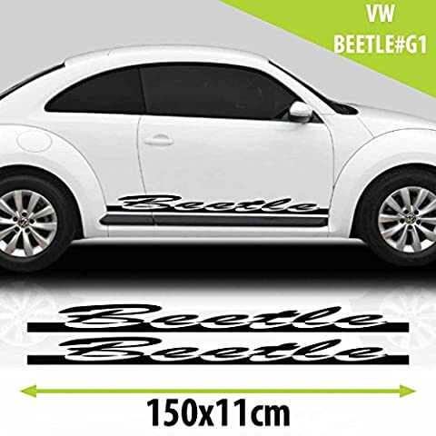 VW Beetle Car Side Stripes Graphics Vinyl Decal Black