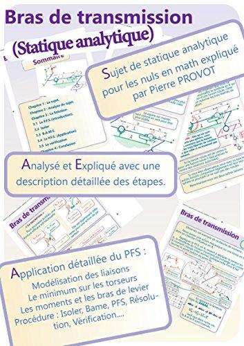 Statique analytique pour les nuls en math (Bras de transmission) por Pierre PROVOT