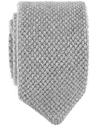 Light Grey Italian Knitted Cashmere Tie