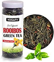 YOGAFY - Rooibos Green Tea Whole Leaf | for Skin Repair and Weight Management |100 Gram - 50 Cups |