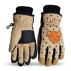 Smart J Fäustlinge Winddicht Wasserabweisend Warm Rutschfest Atmungsaktiv Handschuhe Winterhandschuhe Skihandschuhe Kinder