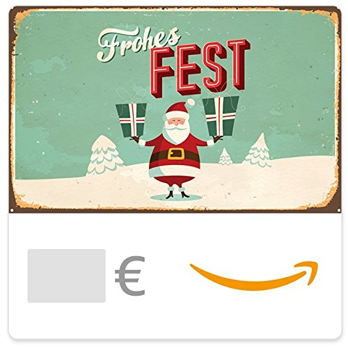 Digitaler Amazon.de Gutschein (Weihnachtsmann retro) (Die Erfahrungen Santa)