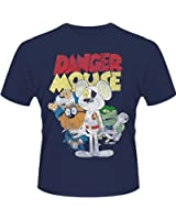 Plastic Head Men's Danger Mouse Gang Banded Collar Short Sleeve T-Shirt