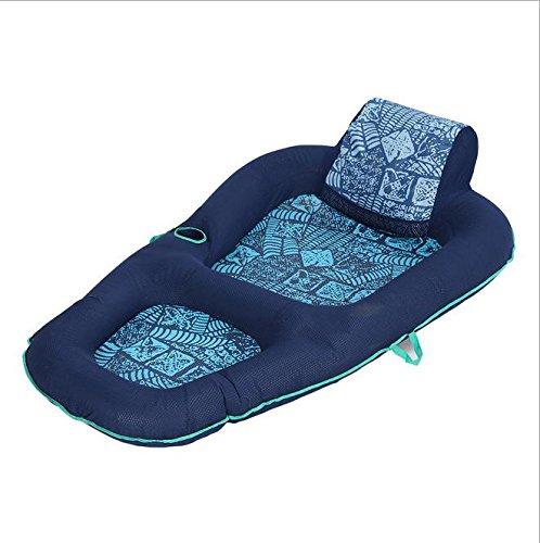 Z&HX sportsSchwimmender Stuhl aufblasbare schwimmende einzelne PVC-Strand-Pool Liegesessel, blue (Pool / Liegesessel)