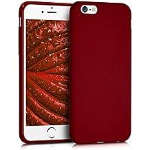 kwmobile Funda para Apple iPhone 6 / 6S - Case para móvil en TPU silicona - Cover trasero en rojo mate